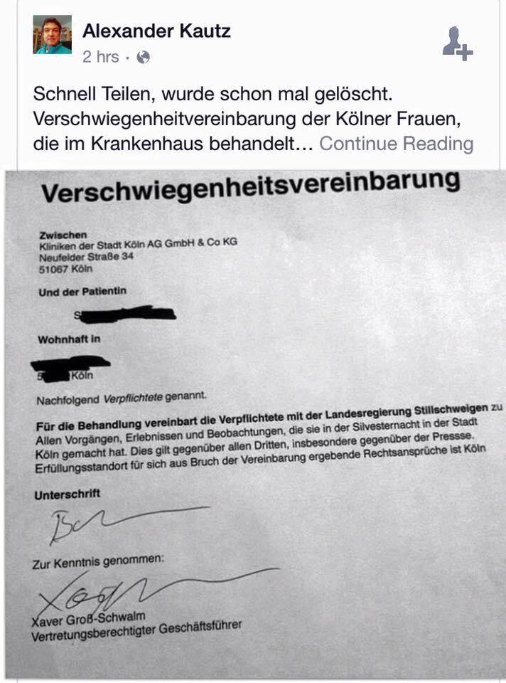 Verschwiegenheitsvereinbarung Köln